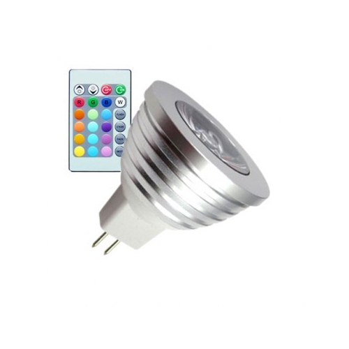 Ampoule LED GU5.3 MR16 12V DC RGB 5W
