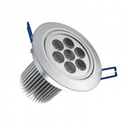 Spot LED Downlight Rond Orientable 7x1W