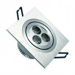 Spot LED Downlight Carré 3x1W