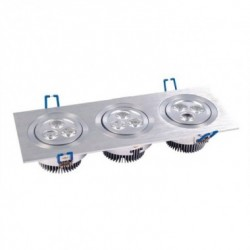 Spot LED Downlight Rectangulaire 3x3x1W