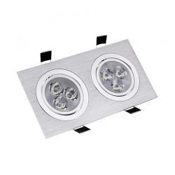 Spot LED Downlight Rectangulaire 2x3x1W
