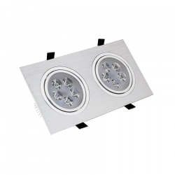 Spot LED Downlight Rectangulaire 2x5x1W