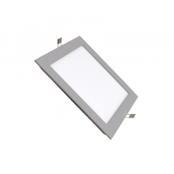 Dalle LED Carrée Extra Plate LED 12W Cadre Gris