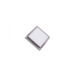 Plafonnier LED Carré Design 6W Argent
