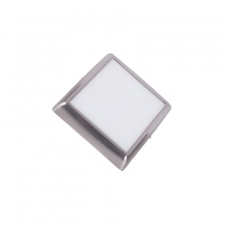 Plafonnier LED Carré Argent Design 12W