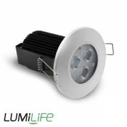 Kit Plafonnier LED encastrable 9W IP65 compatible variateur (dimmable)