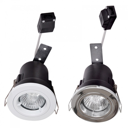 Spot led 5w gu10 230v anti incendie encastrable fixe for Spot led exterieur 220v