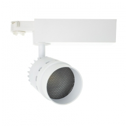 Spot LED Cannon pour Rail Triphasé 20W Blanc