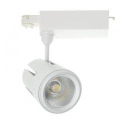 Spot LED Gatling pour Rail Triphasé 40W Blanc