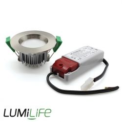 Kit Plafonnier downlight 7W IP54 dimmable (compatible variateur)