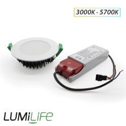 Kit Plafonnier downlight 10W IP20 Dimmable (compatible variateur)