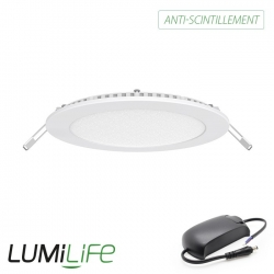 Kit downlight Extra plat 9 Watts avec Transformateur Anti-Scintillement