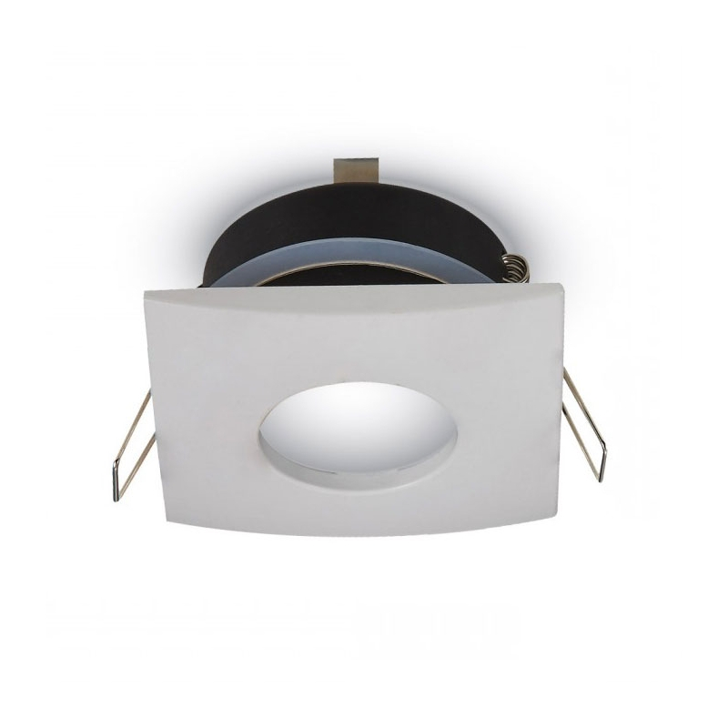 Spot led encastrable carr ip65 milieu humide blanc ou alu for Salle de bain 5m carre