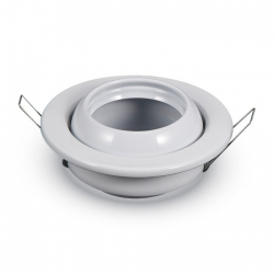 Support encastrable led rond blanc directionnel orientable