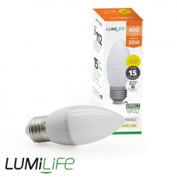 Ampoule E27 5W forme flamme - Blanc Chaud - Dimmable