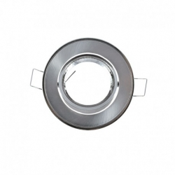 support encastrable Rond orientable Argent Ø86 mm