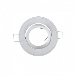 support encastrable Rond orientable Blanc Ø86 mm