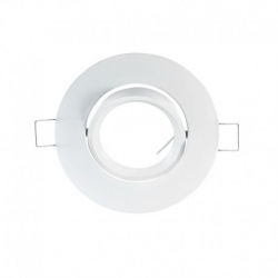 support encastrable Rond orientable Blanc Ø92 mm