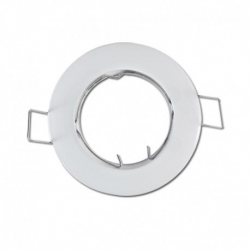 support encastrable Rond Blanc Ø77 mm