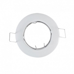 support encastrable Rond orientable Blanc Ø93 mm