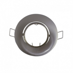 support encastrable Rond orientable Argent Ø92 mm