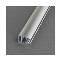 Profile Glass Aluminium 2m pour bandeaux LED