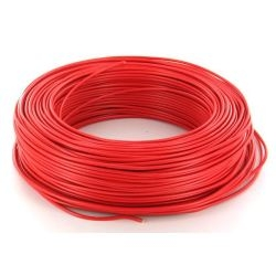 CABLE HO7V-U 2,5 MM2 ROUGE C100M