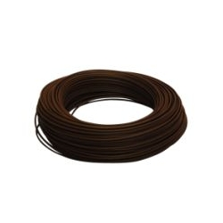 100 mètres de CABLE HO7V-U 2,5 MM2 MARRON