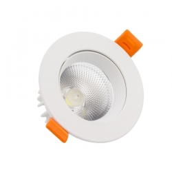 Downlight led COB Orientable 18W rond blanc