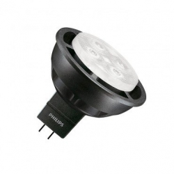 Ampoule LED GU5.3 MR16 Dimmable Philips Master 12V SpotLV VLE 6.3W 36º Black