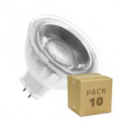 Pack 10 Ampoules LED GU5.3 MR16 COB Cristal 12V 45º 5W