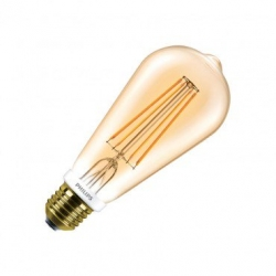Ampoule LED E27 Dimmable Filament Philips Gold CLA big lemon ST64 8W