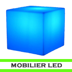 mobilier à led - eclairage led lyon - mobiliers led - poufs led - cube led - meuble led - bar led - verre led